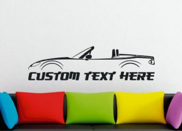 Large Custom car silhouette wall sticker - for Mazda MX5 / Miata NC (Top Down)  | 3rd gen  MK3